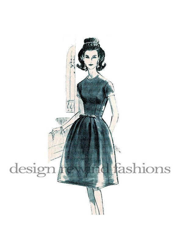 1960s SUZY PERETTE Cocktail Dress w/ by DesignRewindFashions, $80.00: Bell Skirt, Sewing Pattern, 1960S Sewing, 1960S Suzy, Cocktail Dresses, Fashions Sewing, Pattern Patter, Budgeting Patterns, 1960S Vintage