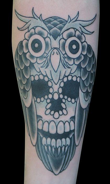 17 best ideas about owl skull tattoos on pinterest