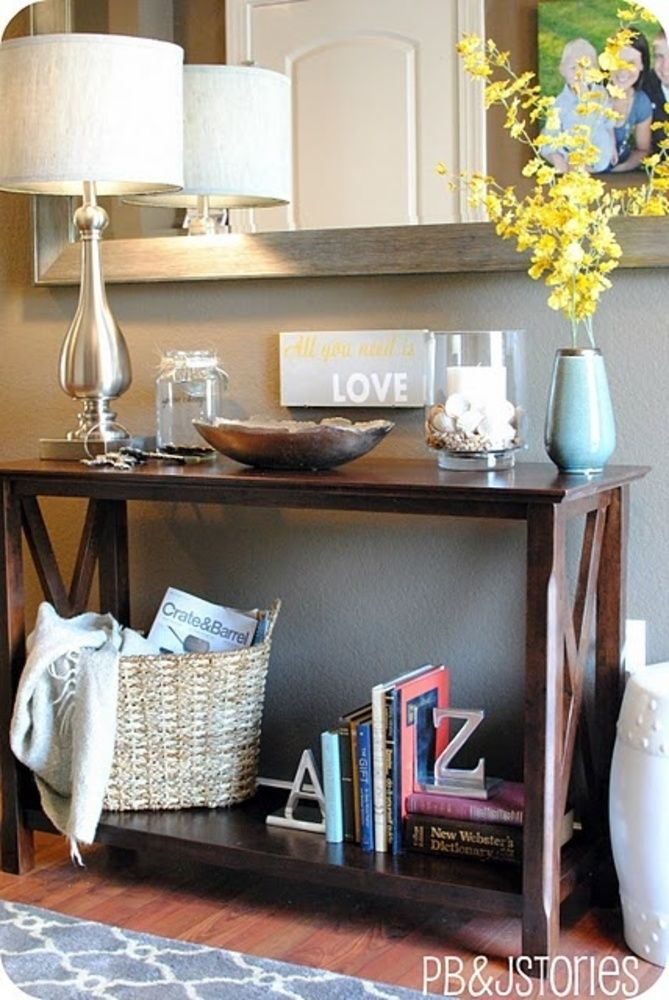 How To Accessories A Console Table Will Guy Basket For