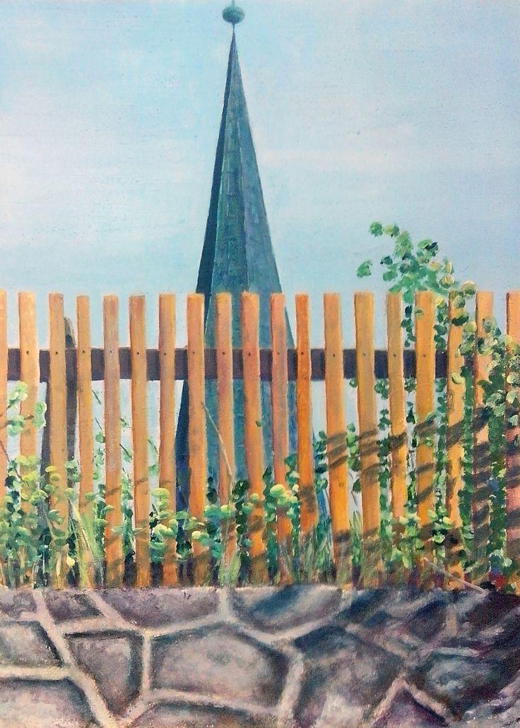 Flensburg St.-Jürgen I,  acryl on board,  70 x 50 cm,   2015 (finish 2017).  Making-of: https://youtu.be/slYwprnM1ko