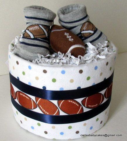 Sports Diaper Cake - Football Diaper Cake