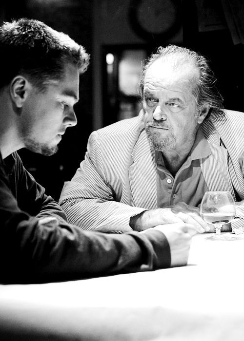 The Departed - Leo and Jack are both outstanding in this film as billy and frank. watch this movie.