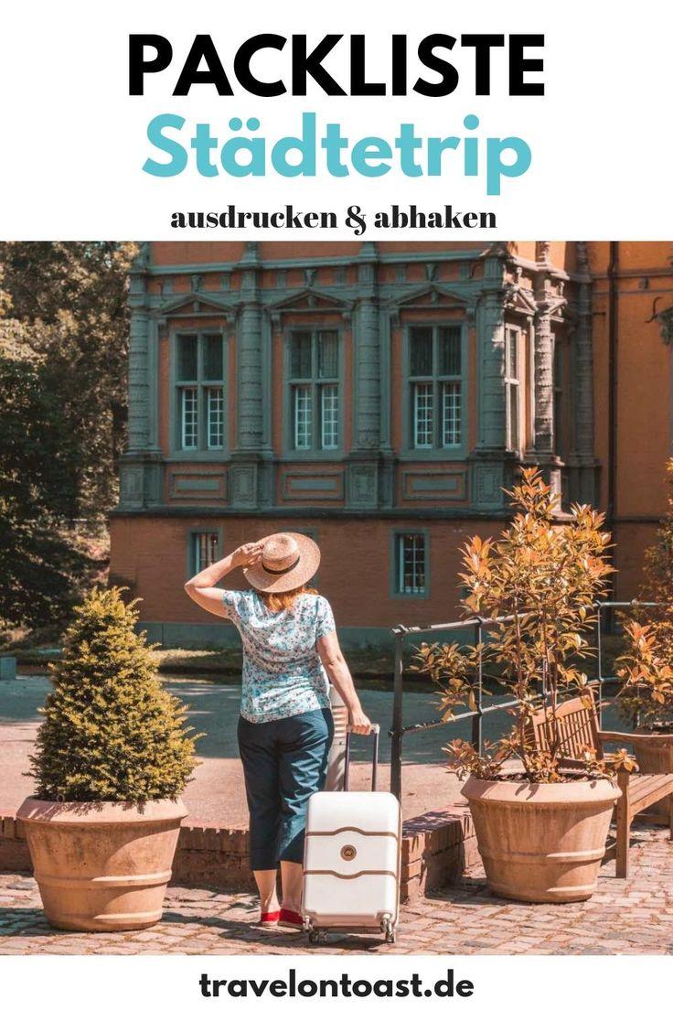 Packliste Städtetrip: Checkliste für deine perfekte Städtereise