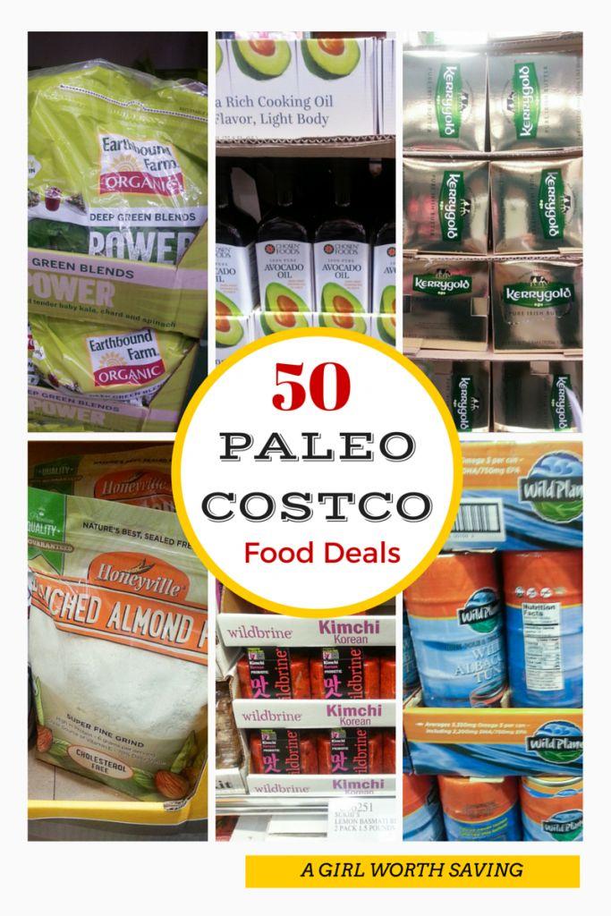 50 Paleo Costco Food Deals  #paleo #costco // agirlworthsaving.net