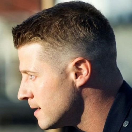 Tapered ivy league haircut