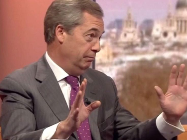 Nigel Farage refuses to give up EU pension: 'Why should my family suffer?'  Also claims he has 'done more than anybody in this country to stop the rise of the far right'     Beyond parody!