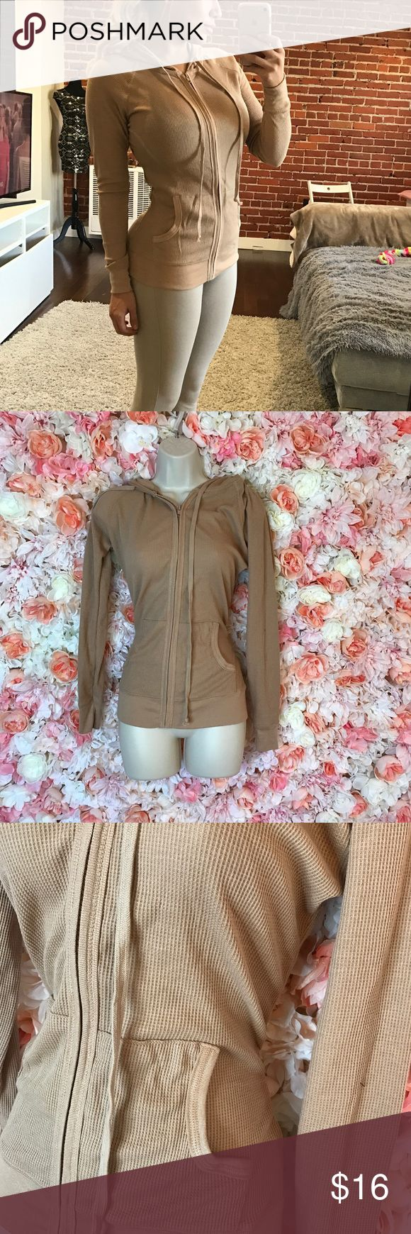 Nude zip up hoodie zip up hoodie cute fashionable and goes with everything Tops Sweatshirts & Hoodies