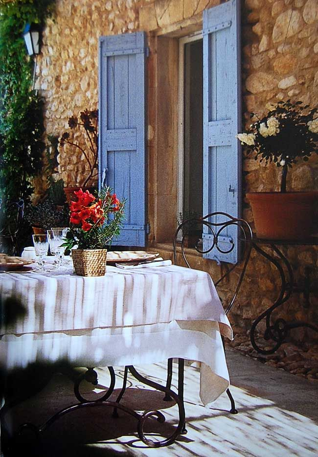 Would be a lovely place to have a meal - from the book 'Provence Style' edited by Angelika Taschen