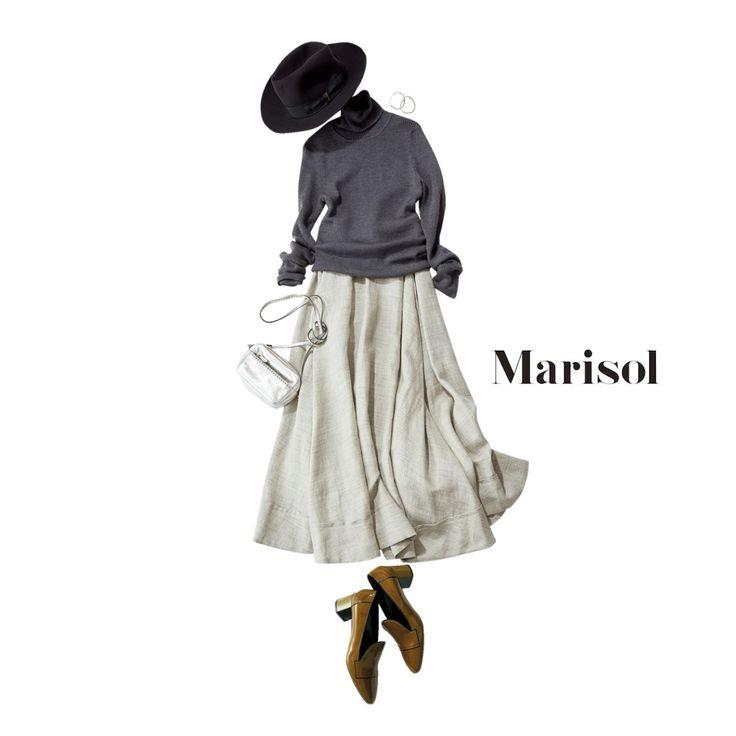 敬老の日は銀髪の祖母と中華へ。小ぶりバッグをシルバーでリンクしてMarisol ONLINE|女っぷり上々!40代をもっとキレイに。