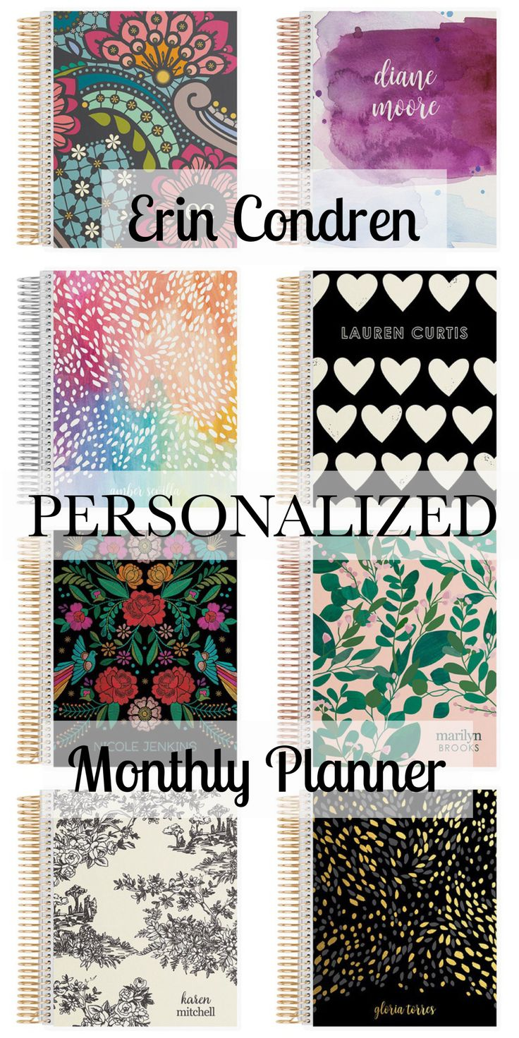 Beautiful Personalized Erin Condren Deluxe Monthly Planners #ad They are so cute! Perfect for the new year and organizing and stating focused in 2018. Be productive. #planner #erincondren #beautiful #personalized #planners #goals #productive #planning #newyear