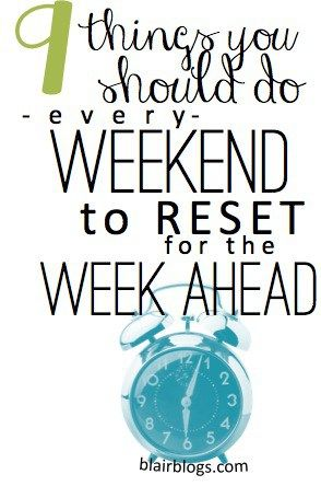 """Mondays don't have to be manic and miserable! There are a lot of easy little things that you can do on the weekends to """"reset"""" for a fresh, smooth work week! This is a MUST READ."""