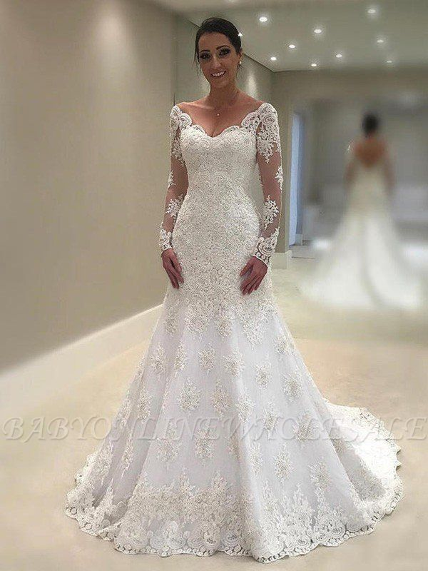 Wedding Dresses With Sleeves White Lace Wedding Dresses In 2020 Court Train Wedding Dress Lace Applique Wedding Dress Wedding Dress Train,Summer Casual Wedding Dresses