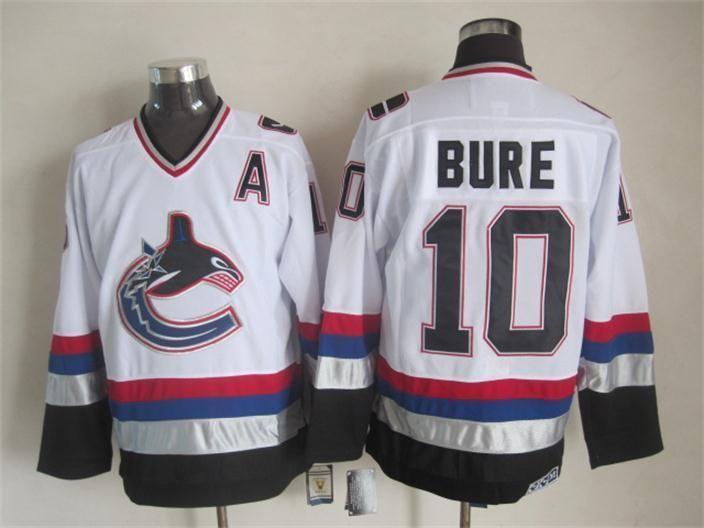 NHL jerseys Vancouver Canucks 10# Bure white