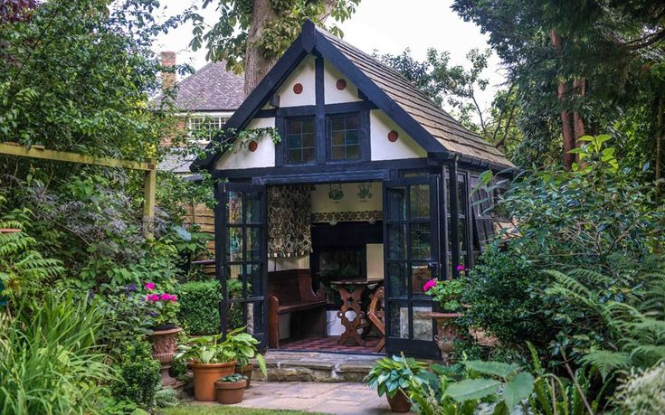 The Gothic Retreat Shed from Wolverhampton, a finalist in the cabin/summerhouse category of the 2014 Shed of the Year competition sponsored ...