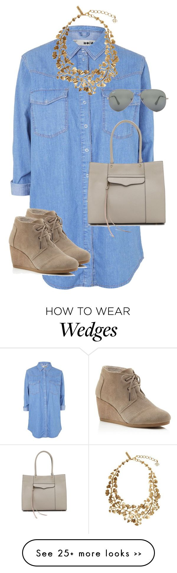 Untitled #9432 by alexsrogers on Polyvore featuring Topshop, TOMS, Ray-Ban, Oscar de la Renta and Rebecca Minkoff