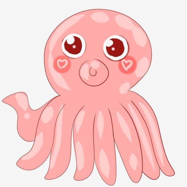 Cartoon Seafood Pink Octopus Cartoon Cartoon Illustration Octopusภาพ Png และ Psd สำหร บดาวน โหลดฟร เร อ อ สเตอร พ นหล ง
