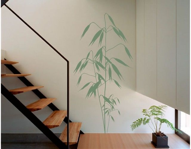 vinilo floral con delicadas lineas y una apuesta segura para decorar cualquier espacio tanto en