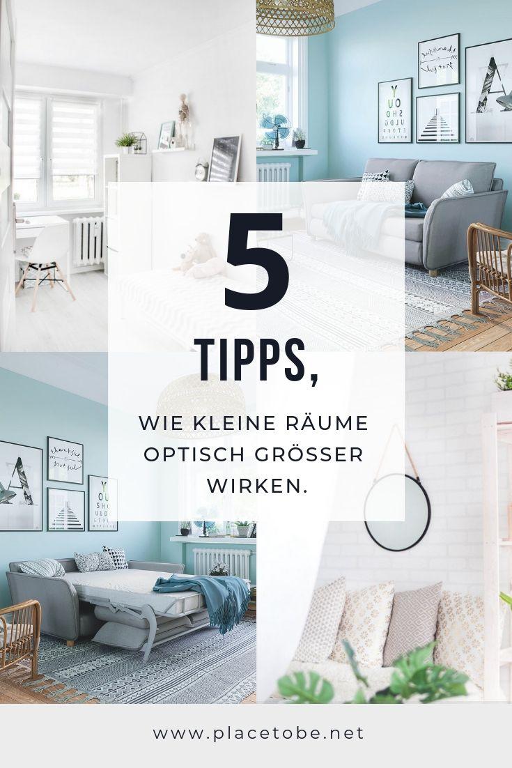 18 Tipps, wie kleine Räume optisch größer wirken  Kleine zimmer
