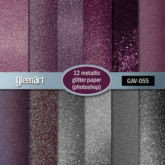 50% Off Sale  Wedding's pink glitter paper/Metal by GleenArt