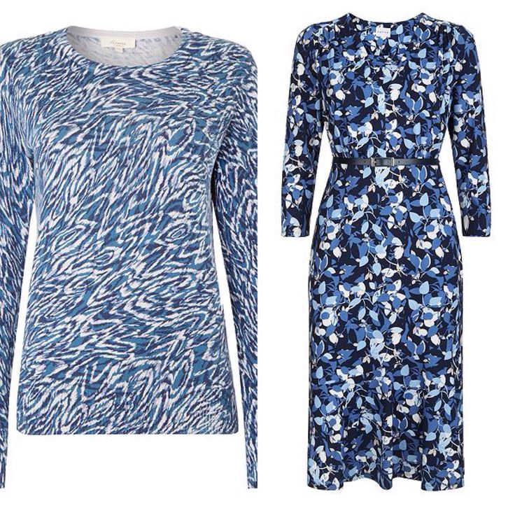 Blue tones dress and top House of Fraser sale