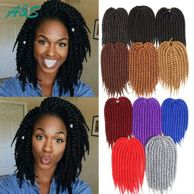 Short length crochet Havana Mambo Twist Havana Braiding Twist for Kids Senegalese Twist 12'' Protective box braids hairTutorial. AS hair store from aliexpress. Our email is ashair2016@outlook.com. wholesale price