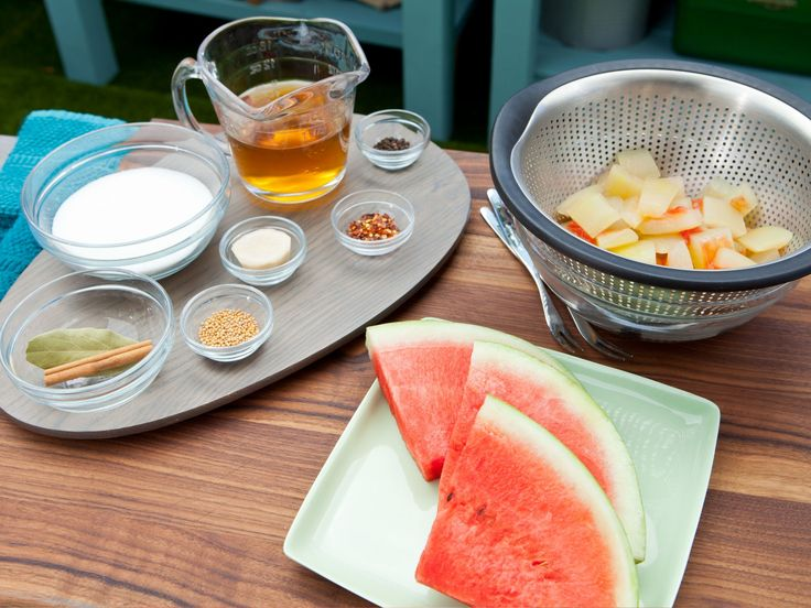 Pickled Watermelon Rinds recipe from The Kitchen via Food Network
