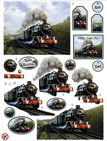 Masculine card topper - train