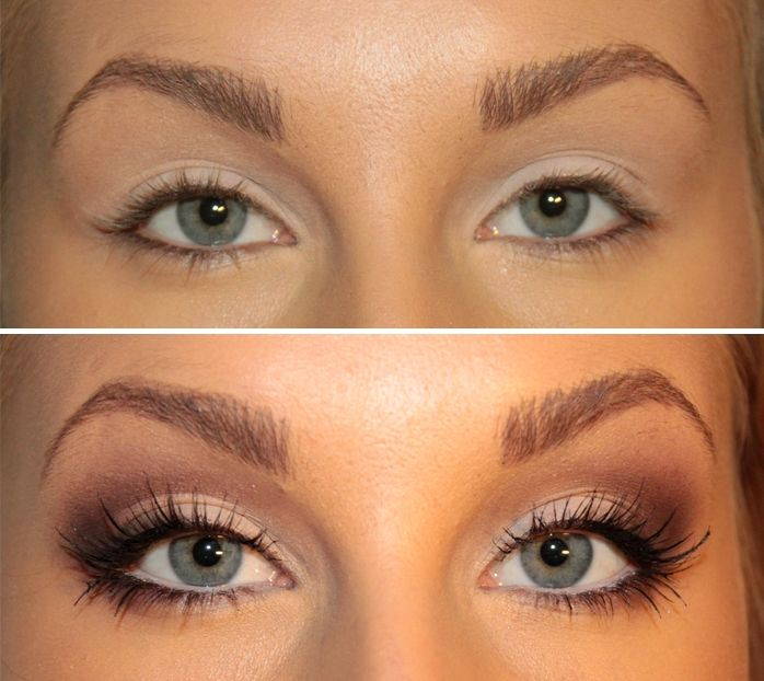 How to make your eyes look bigger (tutorial). I couldn't do this nearly as well, but that's impressive.