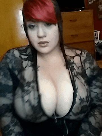 Big tits lacy bra