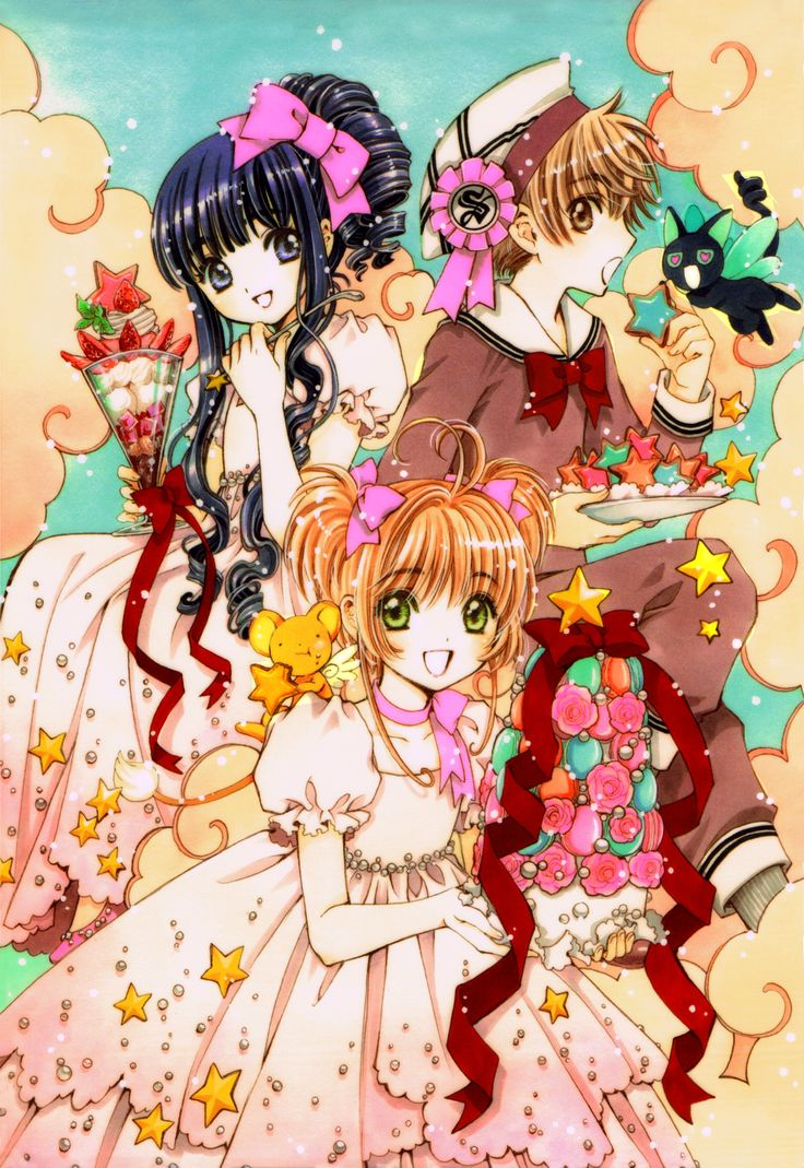 Tomoyo, Sakura, and Syaoran from Cardcaptor Sakura by CLAMP