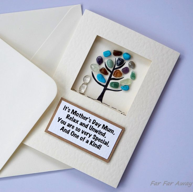 Introducing New 'Pebble Wishes' ©.  Unique, Handmade Cards by FarFarAwayArt.  Send a Card with a Difference... A Card for Keeps...
