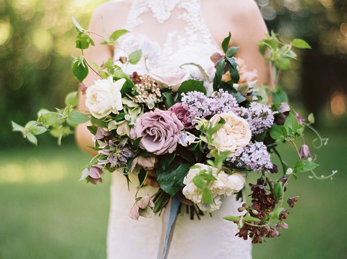 Lilacs in a Wedding Bouquet!  So beautiful.