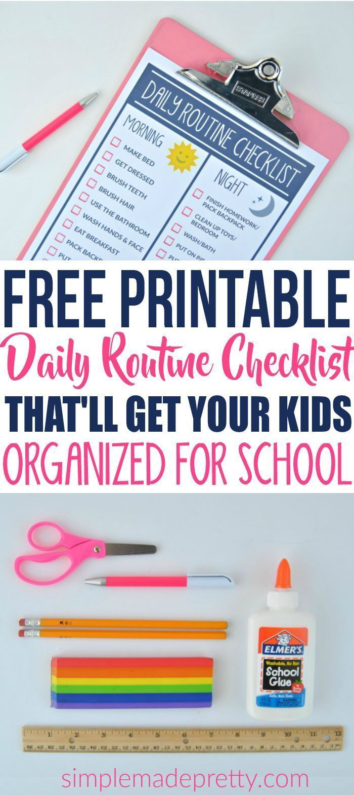 This Free Printable Routine Chart For Kids Was So Helpful If You Want To Establish A Routine For Daily Routine Chart For Kids Kids Schedule Kids Routine Chart