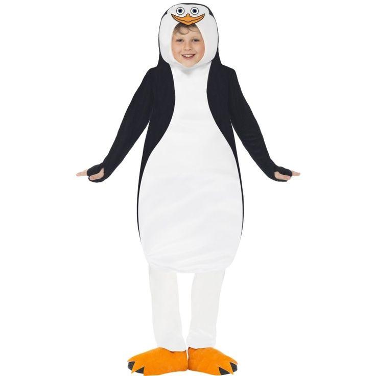 Compleet pinguin kostuum bestaande uit een foam tuniek en schoenhoezen.