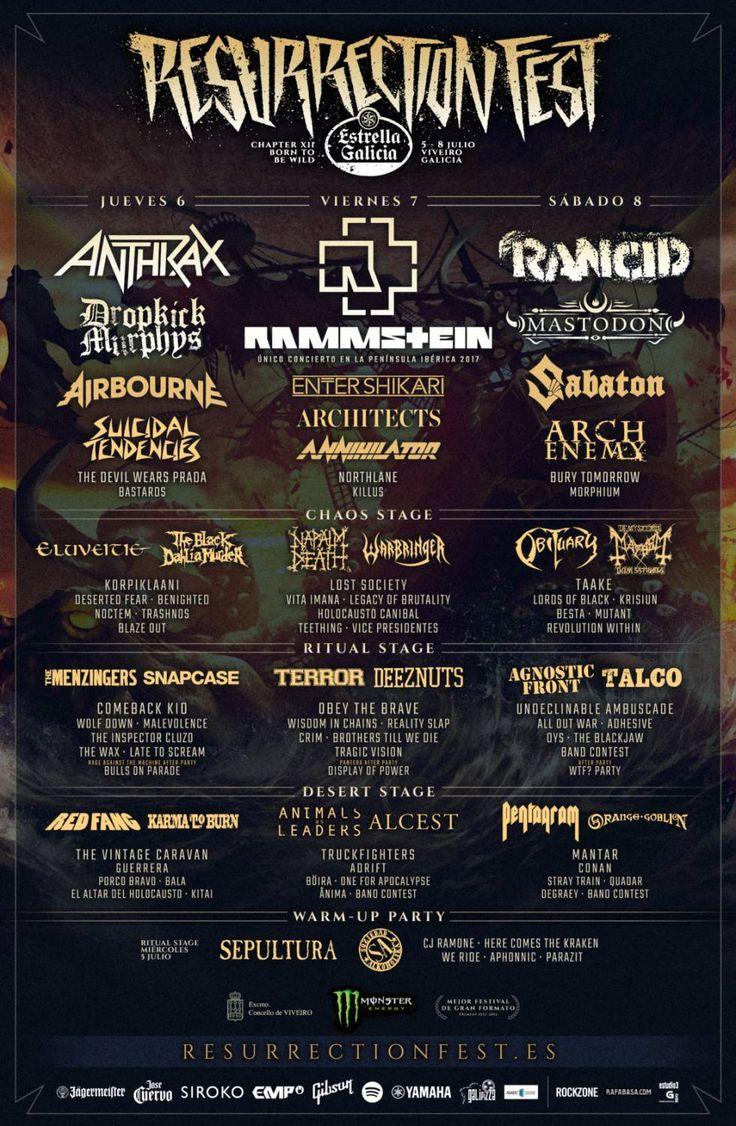 @ Resurrection Fest 2017 (Viveiro, España, Julio 2017) #concierto #música #punk #metal #hardcore #Viveiro