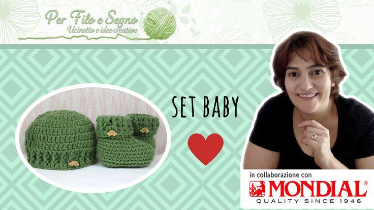 Set Baby formato da cappellino e scarpine caldo e facile. video tutorial su youtube https://youtu.be/w9NwCL8QlWY