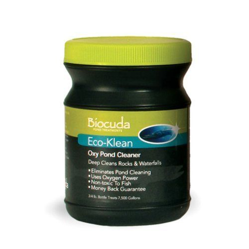 Atlantic Water Gardens Eco-Kleen Oxy Pond Cleaner Size - 3/4 lb. by Atlantic Water Gardens. $19.99. Quickly and safely removes attached organics. Can be used anywhere build-up occurs. Features that latest in oxygen technology. Dissolvable granules works in seconds. Works on rocks, waterfalls, and stream beds. Additional FeaturesRegular use eliminates complete pond clean-outsAvailable in several different sizes.75 lb. option treats up to 7500 gallons2.5 lb. option tr...