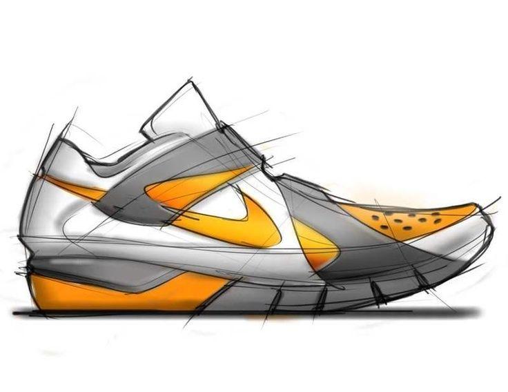 Nike shoe concept sketching