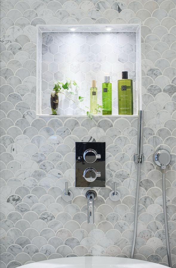 Bianco Carrara marmor bli inspirerar av äkta marmor från Stonefactory