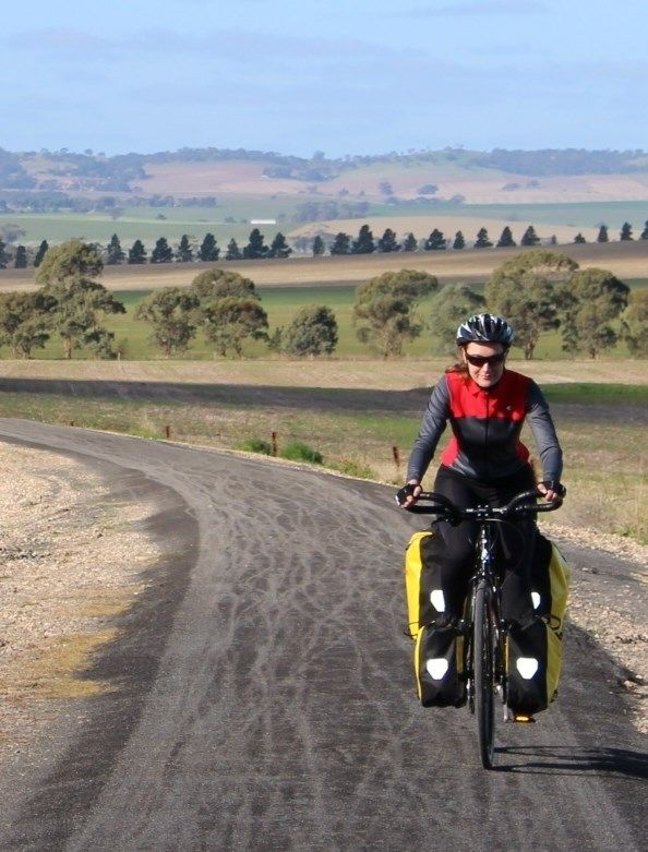 A gorgous bicycle touring route through the Barossa and Clare Valleys: http://cycletraveller.com.au/australia/bike-routes/rail-trails-in-the-barossa-valley-and-clare-valley