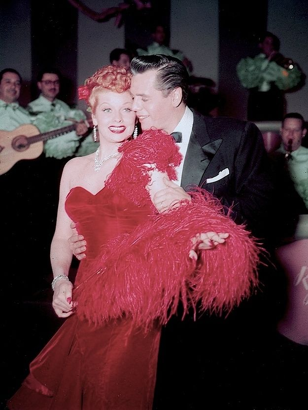 """Rare color pic of the Tropicana night club from """"Cuban Pals"""" 1952. """"Lady In Red"""" number."""
