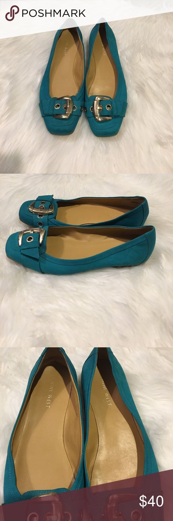Nine West teal flats size 8 Nine West teal flats size 8. Good condition. Smoke free home. Offers welcomed Nine West Shoes Flats & Loafers