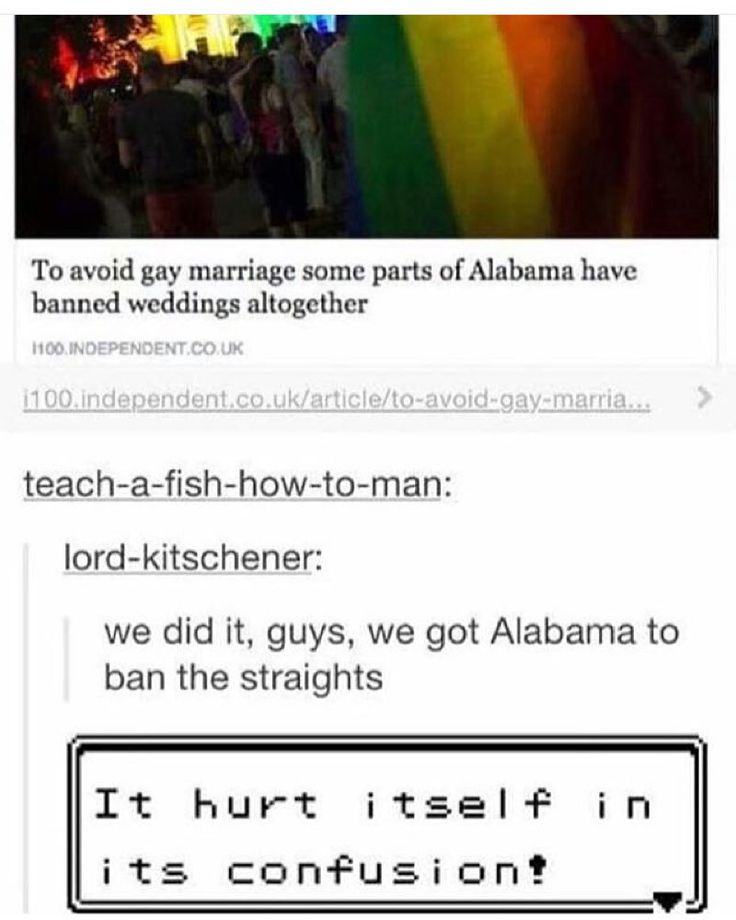 This is actually true. I live in Alabama and they have stopped giving marriage licenses all together.<<<whaaat!! haha