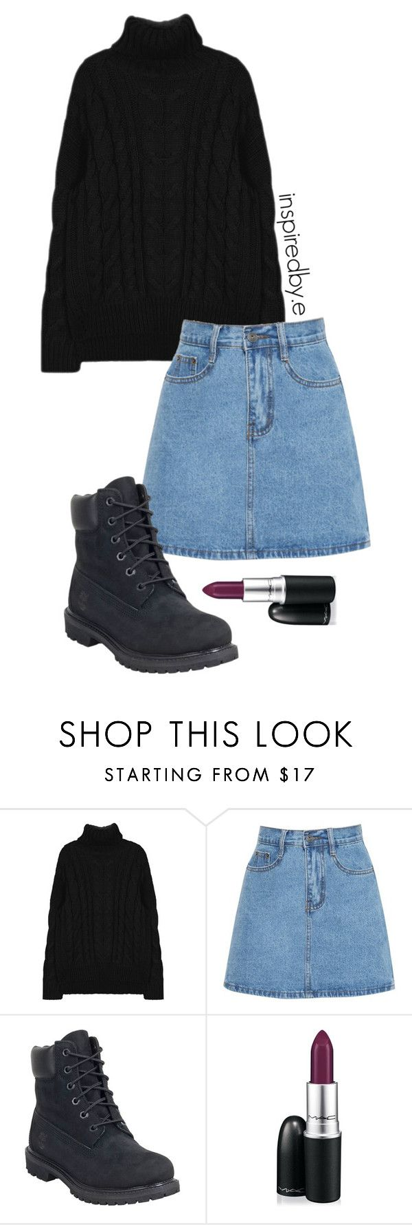 """Name change"" by emmakiis on Polyvore featuring Timberland and MAC Cosmetics"