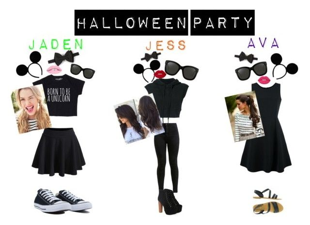 We the trio #3 : three blind mice group costume by jessjess205 on Polyvore featuring Emporio Armani, Greg Lauren, Chicwish, WithChic, Jeffrey Campbell, Converse, Linda Farrow, Dsquared2, L.A. Girl and Halloween