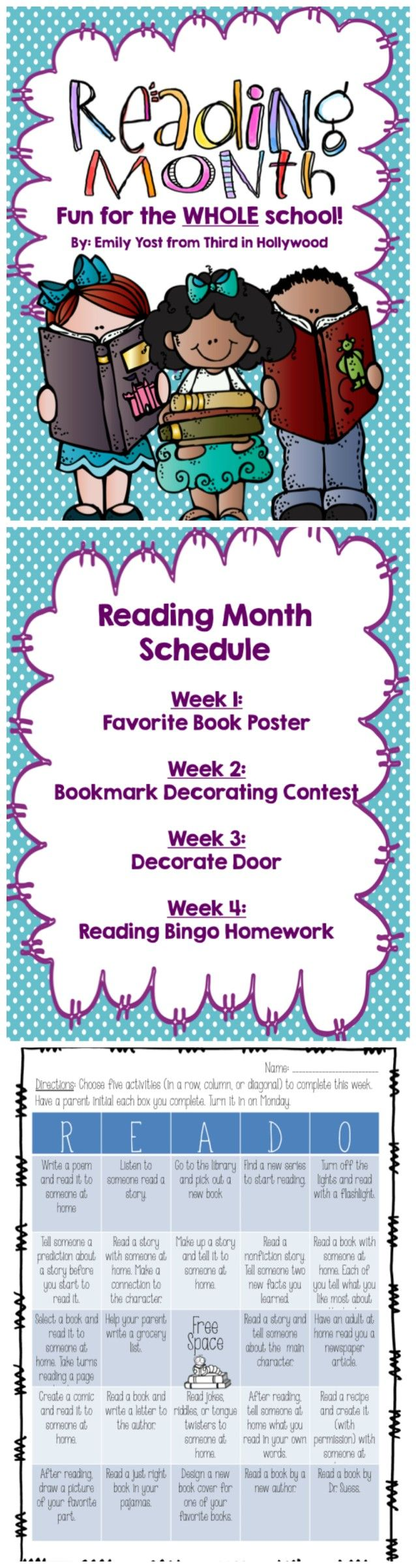 March is Reading Month- Whole School Reading Activities for the Entire Month