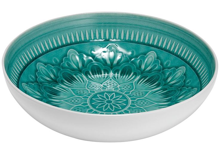 Bring this beautiful embossed dinnerware to the table for a special occasion, dinner party or every day use! Featuring a reactive glaze, each piece is subtly individual! Mix and match the set to transport your guests to a tropical island, and indulge in style this holiday season. Colours - Ocean, Navy, Grey Fabrication - Stoneware