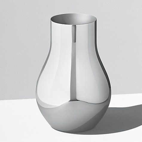 Buy Georg Jensen Cafu Vase, Stainless Steel, 21.6cm Online at johnlewis.com