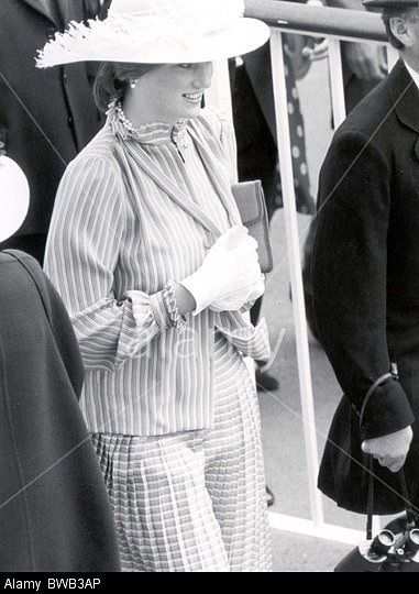Lady Diana Spencer at her first Ascot Races with Prince Charles on June 16, 1981.