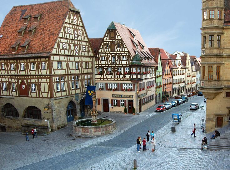 Main Square, Rothenburg ob der Tauber, Germany--Best preserved medieval town in Germany
